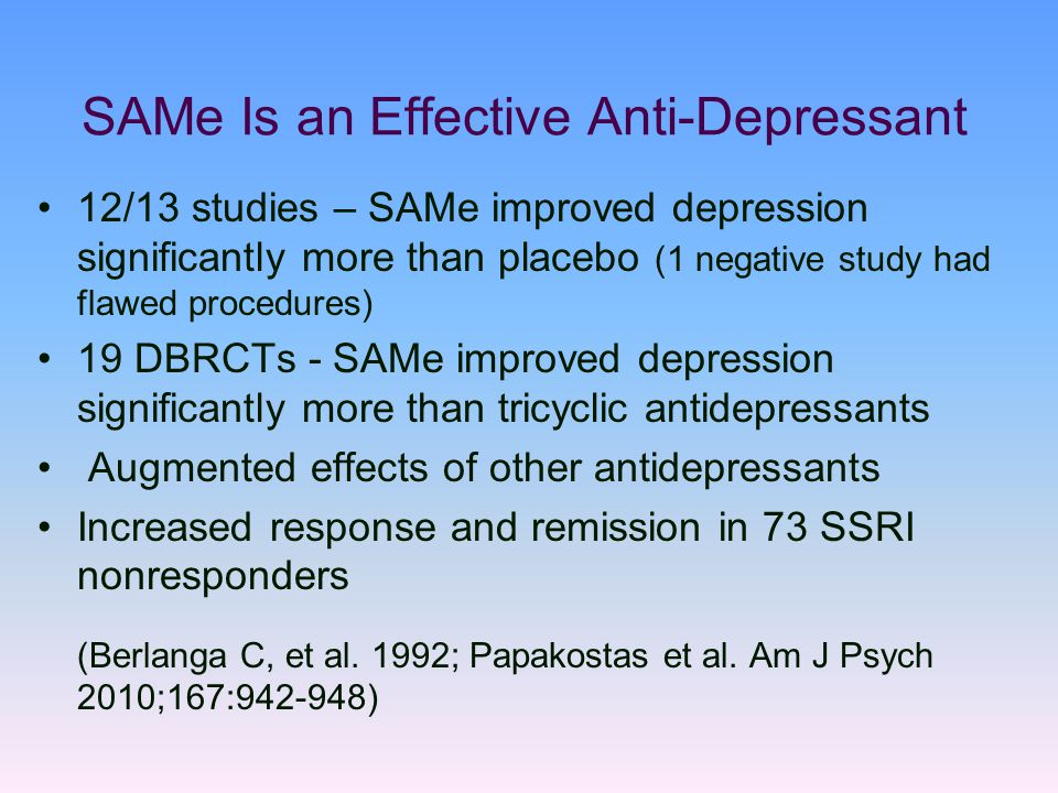 SAMe+Is+an+Effective+Anti-Depressant